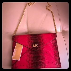 NWT MICHAEL KORS PINK AND BLACK PURSE